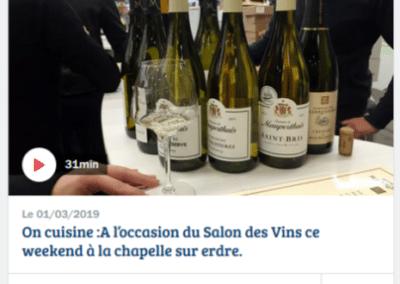 Nos vignerons sur France Bleue Océan à l'occasion de notre salon de Nantes!