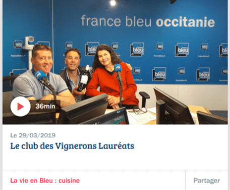 Nos vignerons sur France Bleue Occitanie à l'occasion du salon de Toulouse!